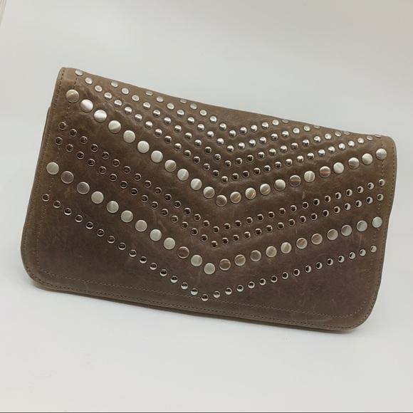 Junior Drake Handbags - Junior Drake Clutch Distressed Brown